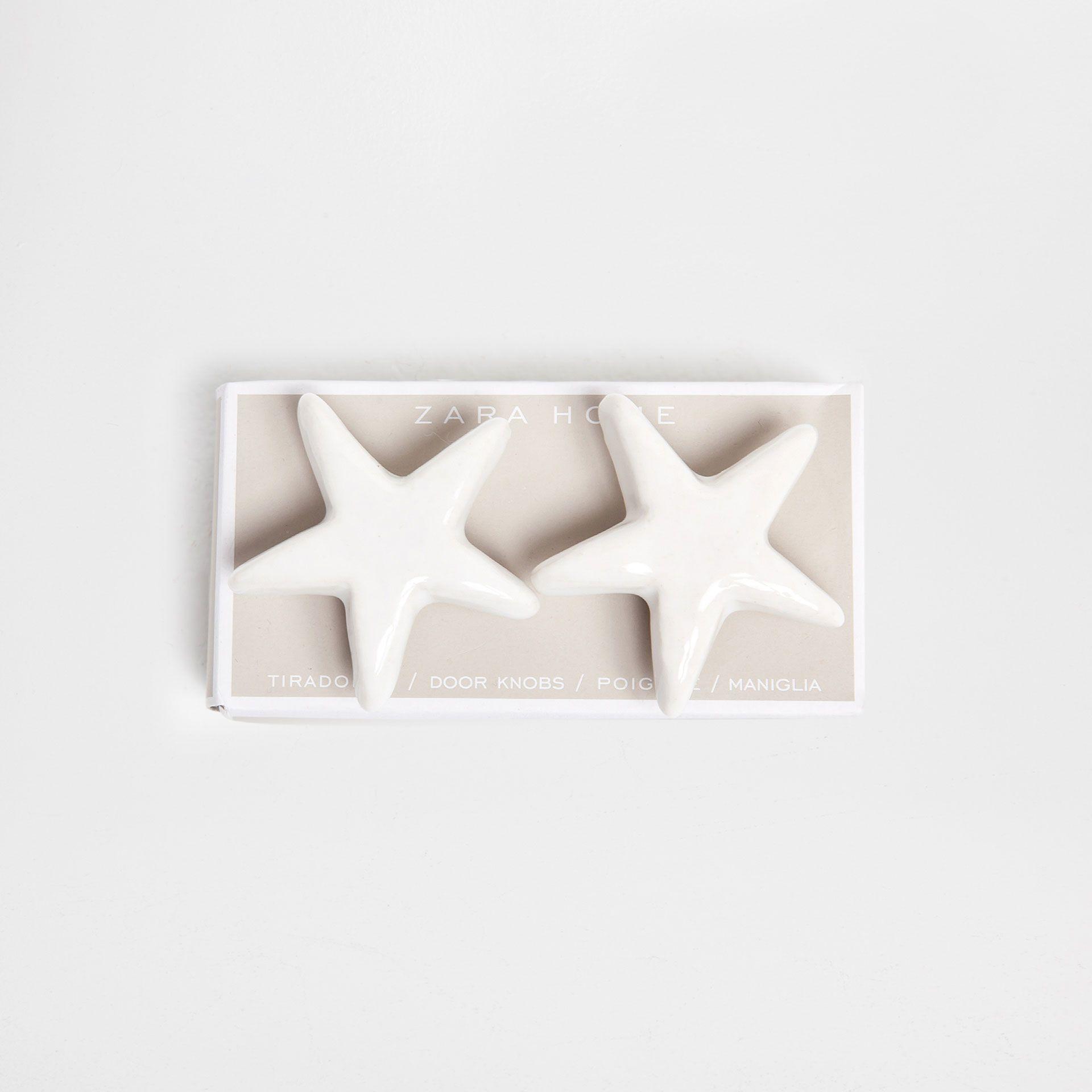 Bouton Meuble Céramique Étoile (Lot de 2) - Boutons Meuble ...