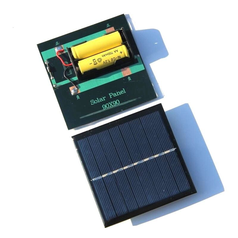 Universe Of Goods Buy New 1w Solar Panel With Base For Aa Battery 1w 4v Solar Cell For 1 2v 2xaa Rechargeable Ba Solar Cell Solar Battery Solar Power Panels