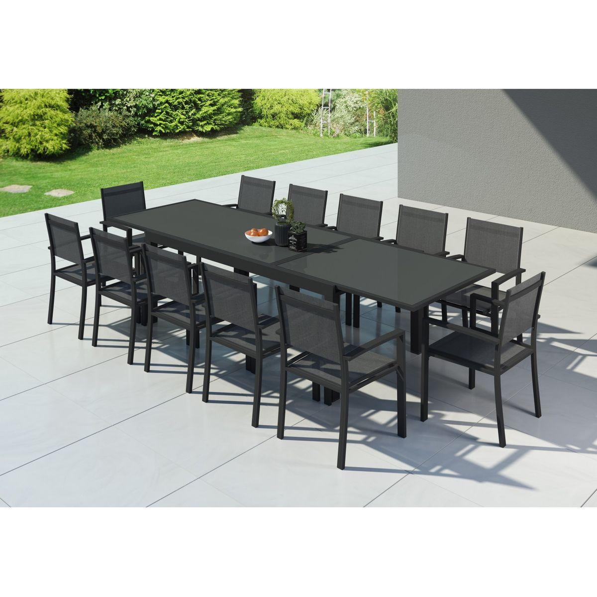 table de jardin extensible aluminium