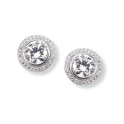 Click Image Above To Buy: Kelly Herd Round Clear Earrings