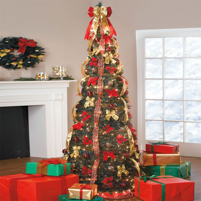 Pop Up Christmas Trees With Lights: 7.5′ Pop-Up Christmas Tree : $129.99 + Free S/H