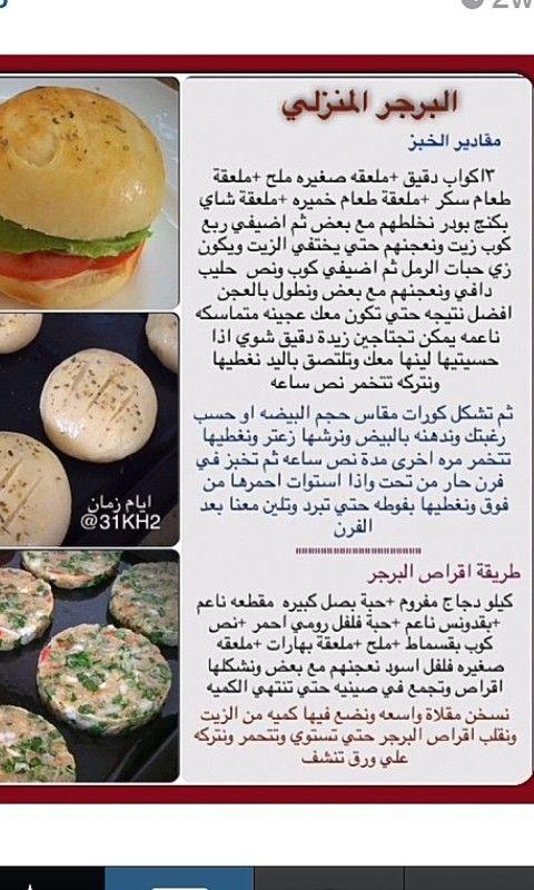 البرجر المنزلي Cookout Food Libyan Food Food Receipes