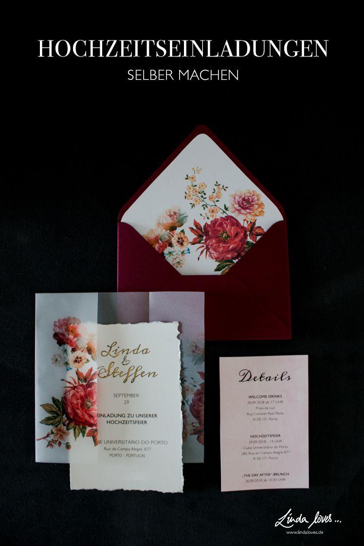 Diy Hochzeitseinladungen Selber Gestalten Diy