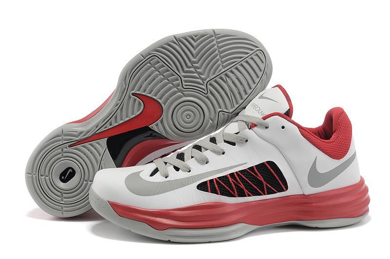 Nike Lunar Hyperdunk 2012 Low Black White Red Cool Grey 535359 701 $ 57.99