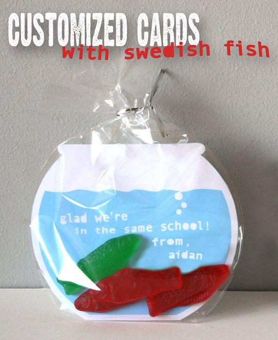 Printable Valentine's Cards Swedish Fish Bowls
