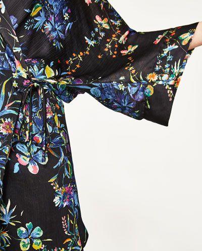 f0edff26 BLOMSTRET KIMONO-Kimono-FRAKKER-DAME | ZARA Danmark | Diy clothing