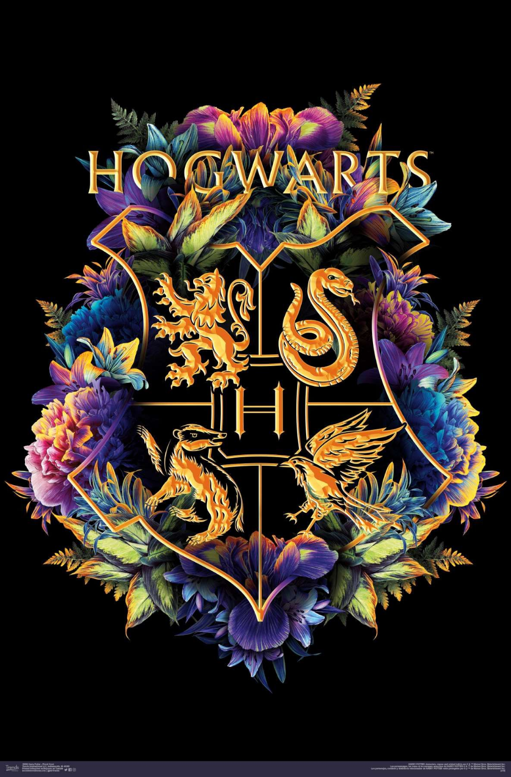 The Wizarding World Harry Potter Floral House Crests Harry
