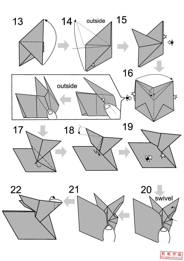 Origami Bunny Rabbits : How to Fold Origami Bunnies & Rabbits ... | 1024x724