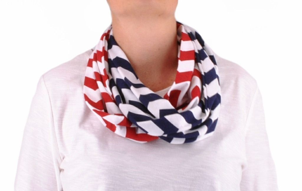 Infinity Scarf Women's Girls Baby Lightweight Jersey Circle Loop Chevron Zig Zag Stripe