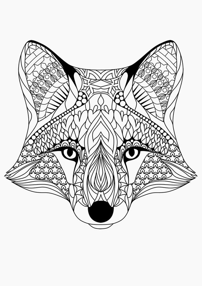 Free Printable Coloring Pages for Adults {12 More Designs ... | printable colouring pages for adults animals