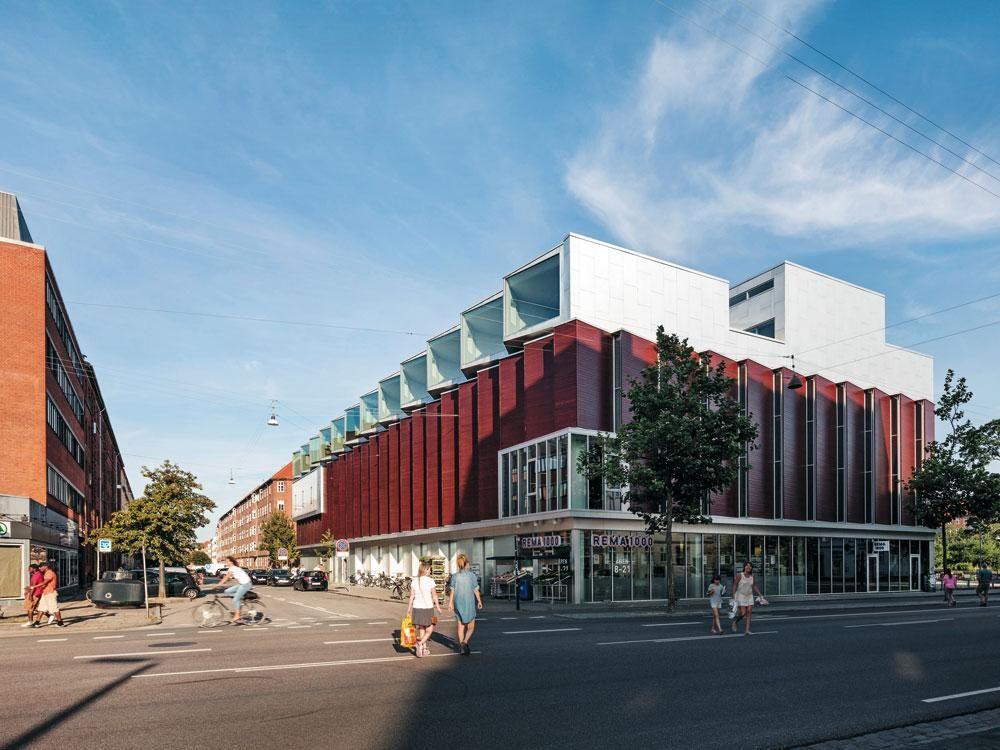 Prozess Sporthalle mit Wohnungen in Kopenhagen - DETAIL - industrie look wohnung soho