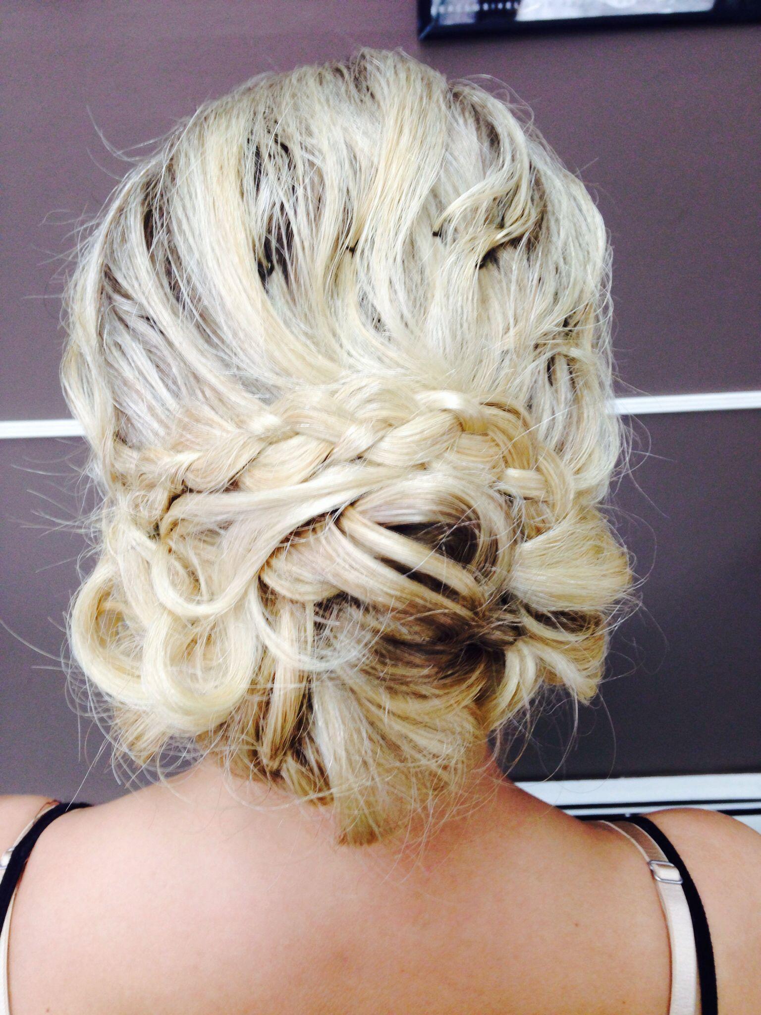 My hair for prom -Sarah