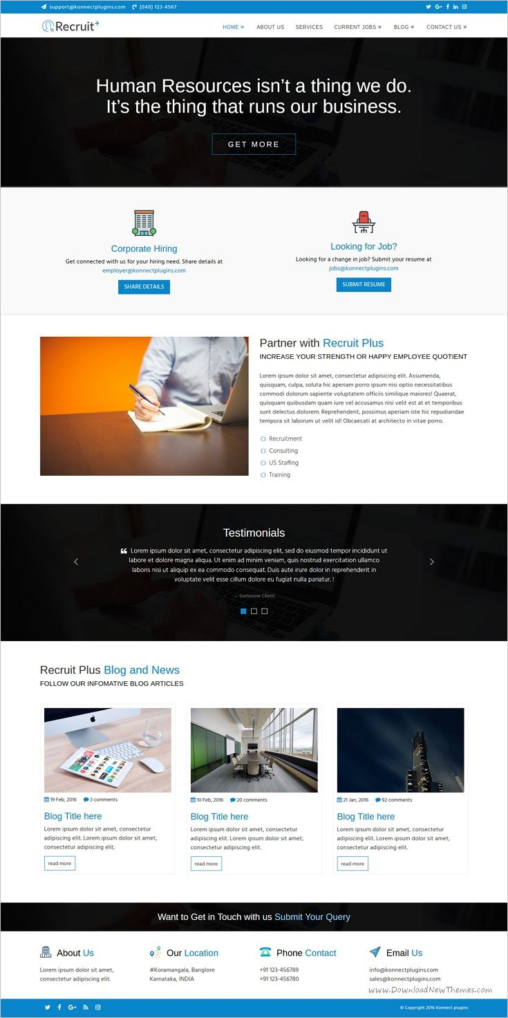 Recruit Plus is a wonderful 2in1 #HTML Bootstrap template for #staffing and recruiting #agencies websites download now➩ https://themeforest.net/item/recruit-plus-staffing-and-recruiting-html-template/19061745?ref=Datasata