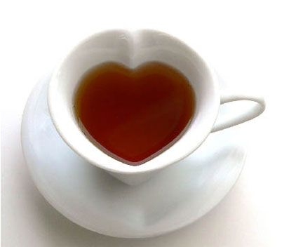 Heart cup and saucer
