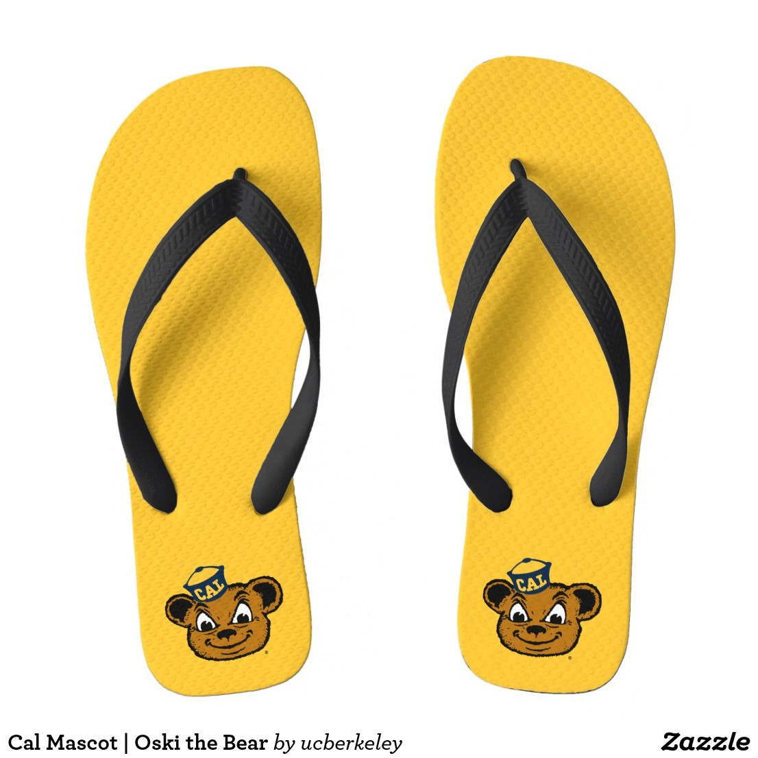 Cal Mascot Oski The Bear Flip Flops Zazzle Com Flip Flops Flop Mascot [ jpg ]