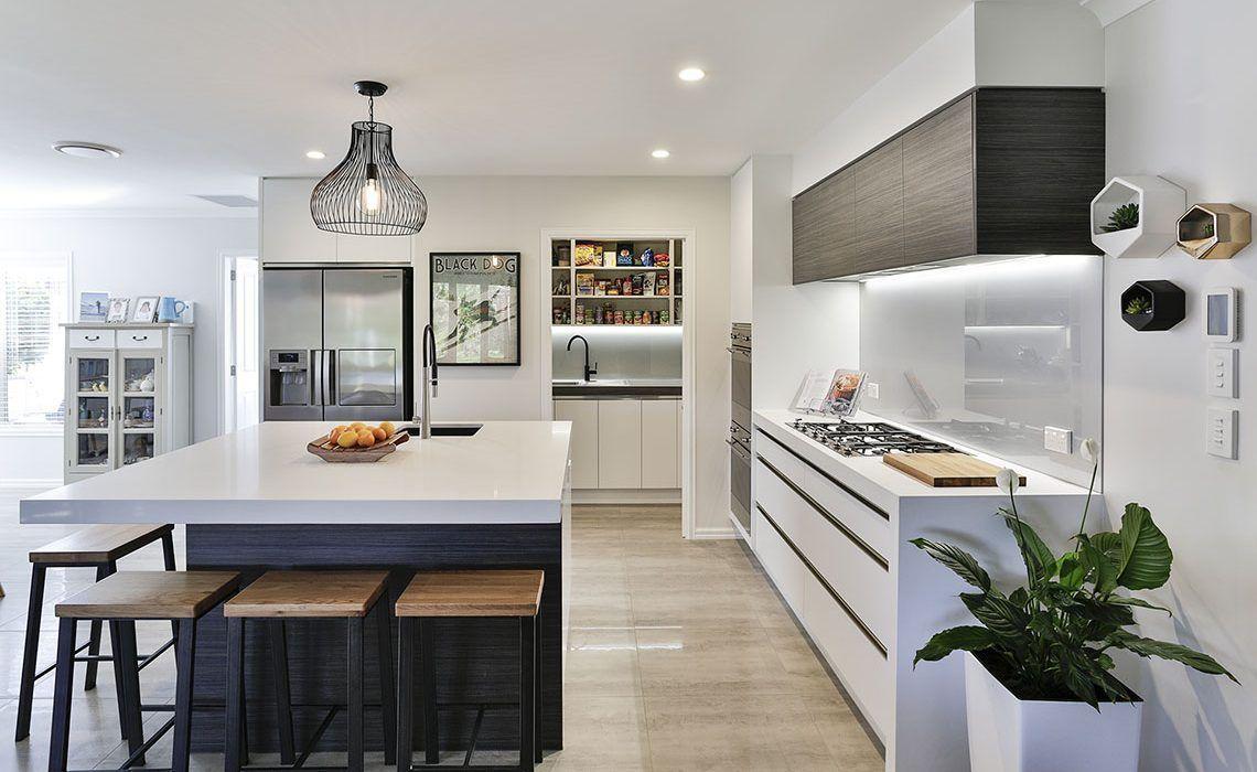 white kitchen  scullery revealed  open plan kitchen