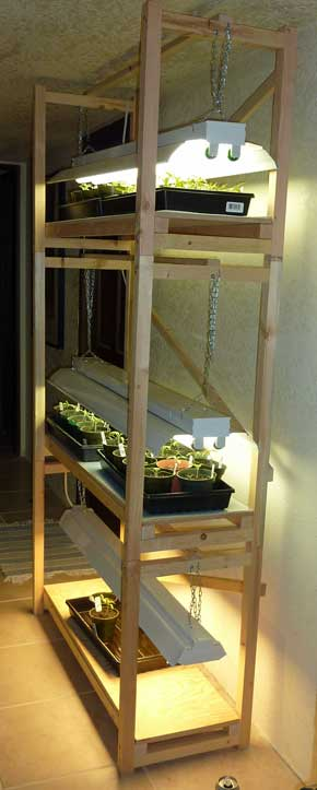 Build a Cheap Plant Grow Light Stand (With images) Grow