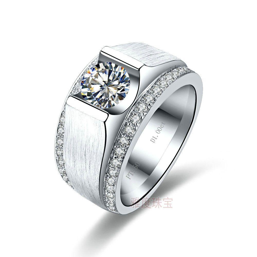 diamond engagement rings men mens ring white gold plated mens