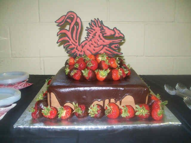 What's not to love...strawberries and chocolate!! Possible groomscake?