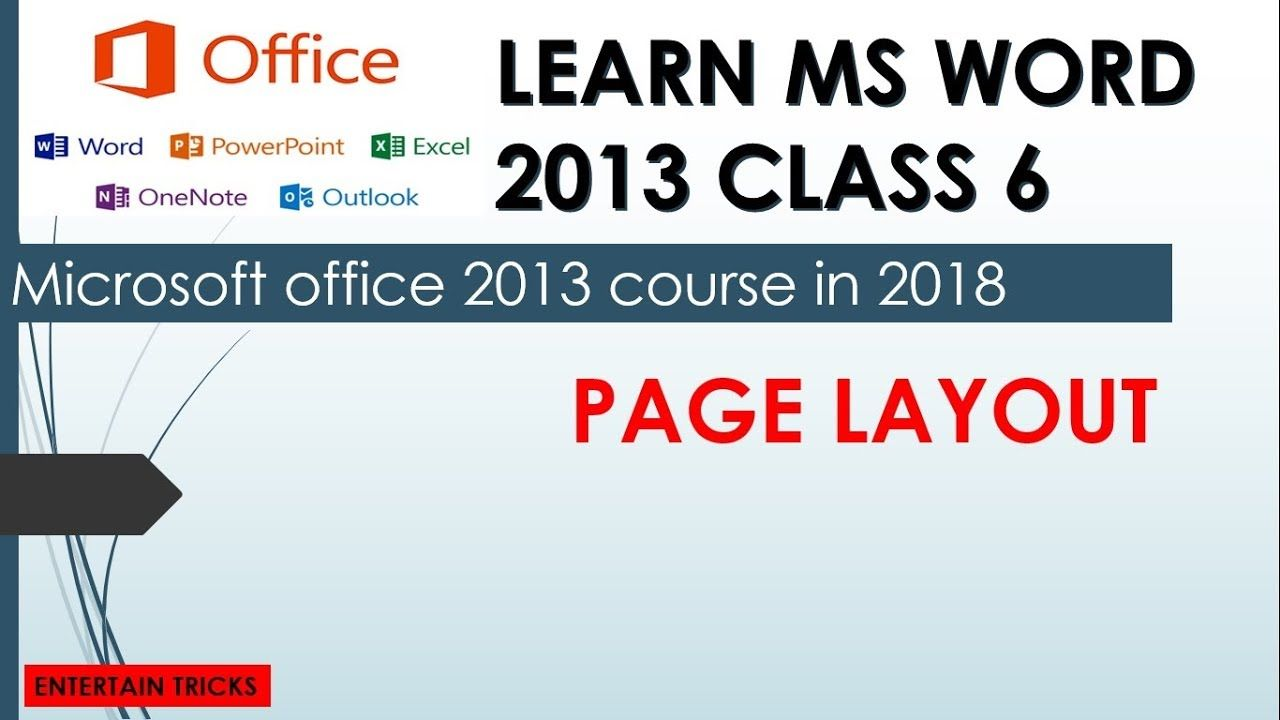 Learn ms word 2013 tutorial in urdu class 6 page layout by learn ms word 2013 tutorial in urdu class 6 page layout by entertain t baditri Choice Image