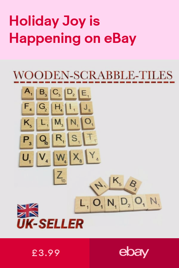 Game Pieces & Parts Toys & Games ebay Wooden scrabble
