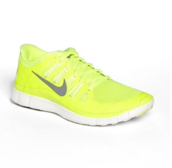 brand new c8cd5 7a2b3 Neon yellow nike free 5.0 running shoe