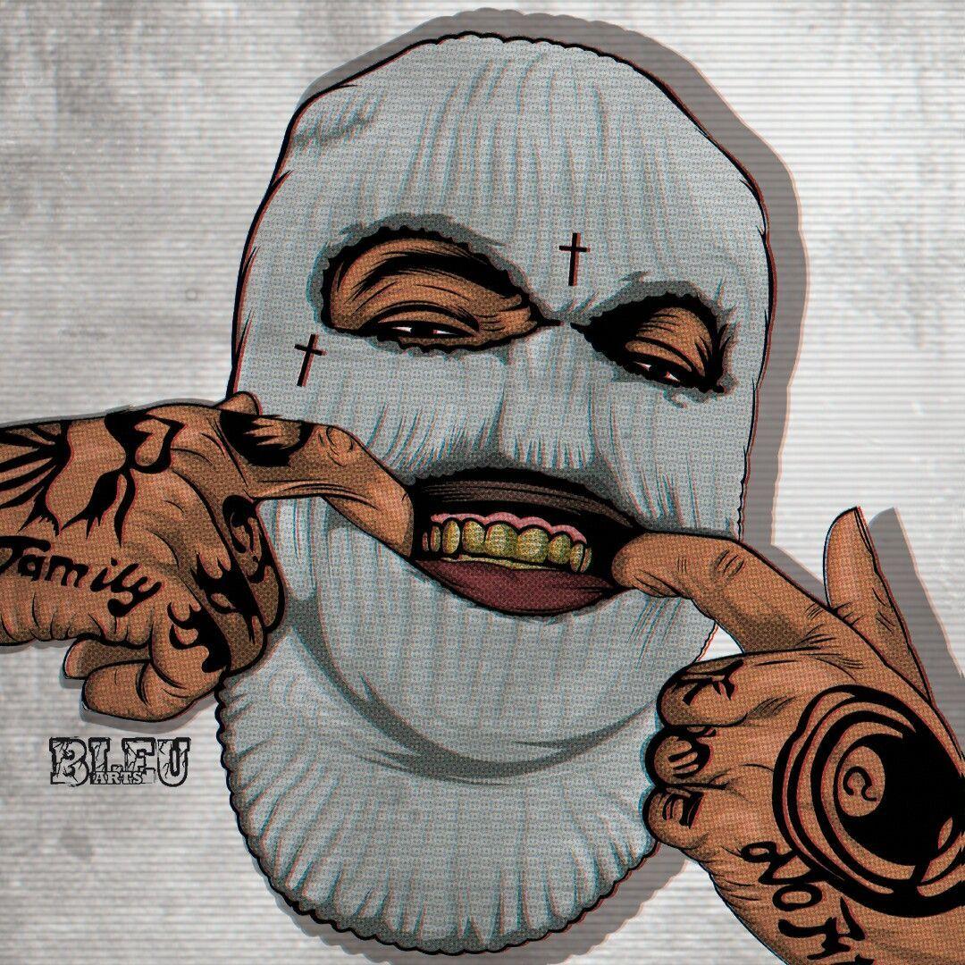 Smoking Ski Mask Tattoos - Best Tattoo Ideas