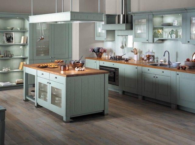 cuisine bleu gris id es sur le thme cuisine arthur bonnet pinterest - Meubles Cuisine Bleu Gris
