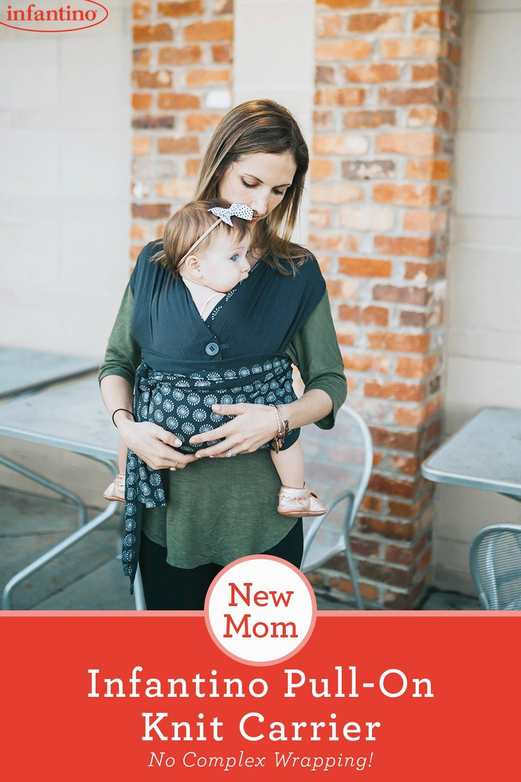 592385104b3 The perfect carrier for new moms  Infantino s Together Pull-On Knit Carrier.  The comfort of a wrap without any complex wrapping. This is a must-have  product ...