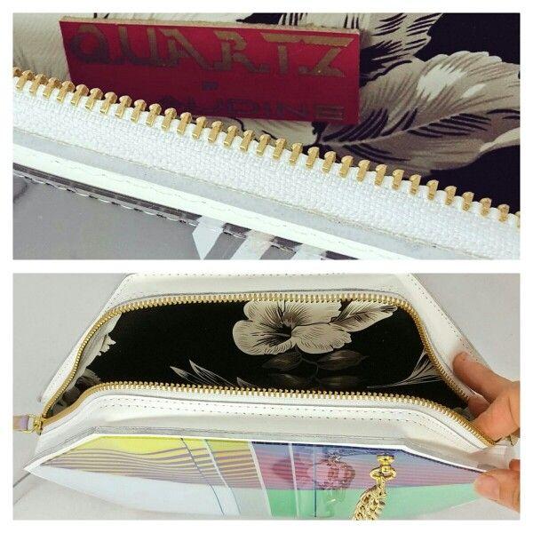 Claudine London handbags. Handmade. Contrast lining