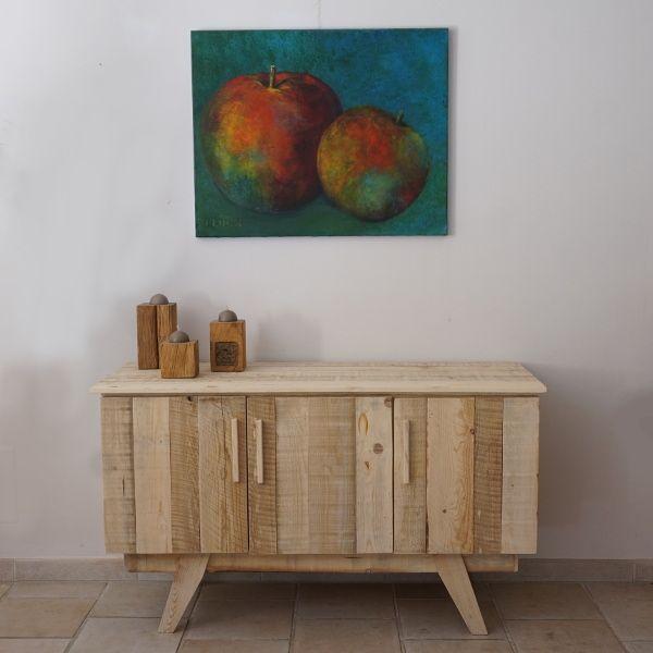 meuble tv style scandinave pieds compas en bois de palettes desarmar tarimas pinterest. Black Bedroom Furniture Sets. Home Design Ideas