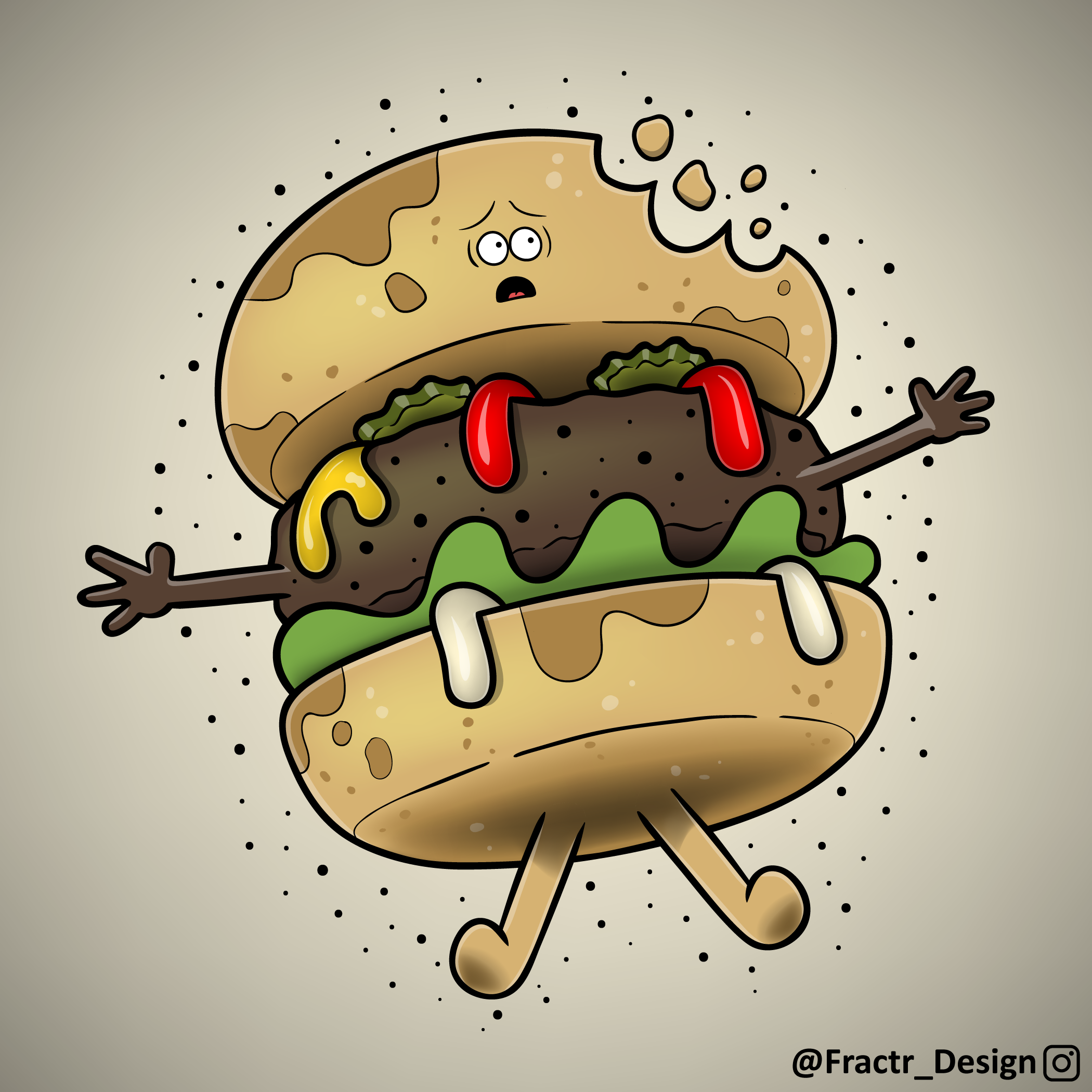 Burger Party! A cute illustration I made of my favorite food
