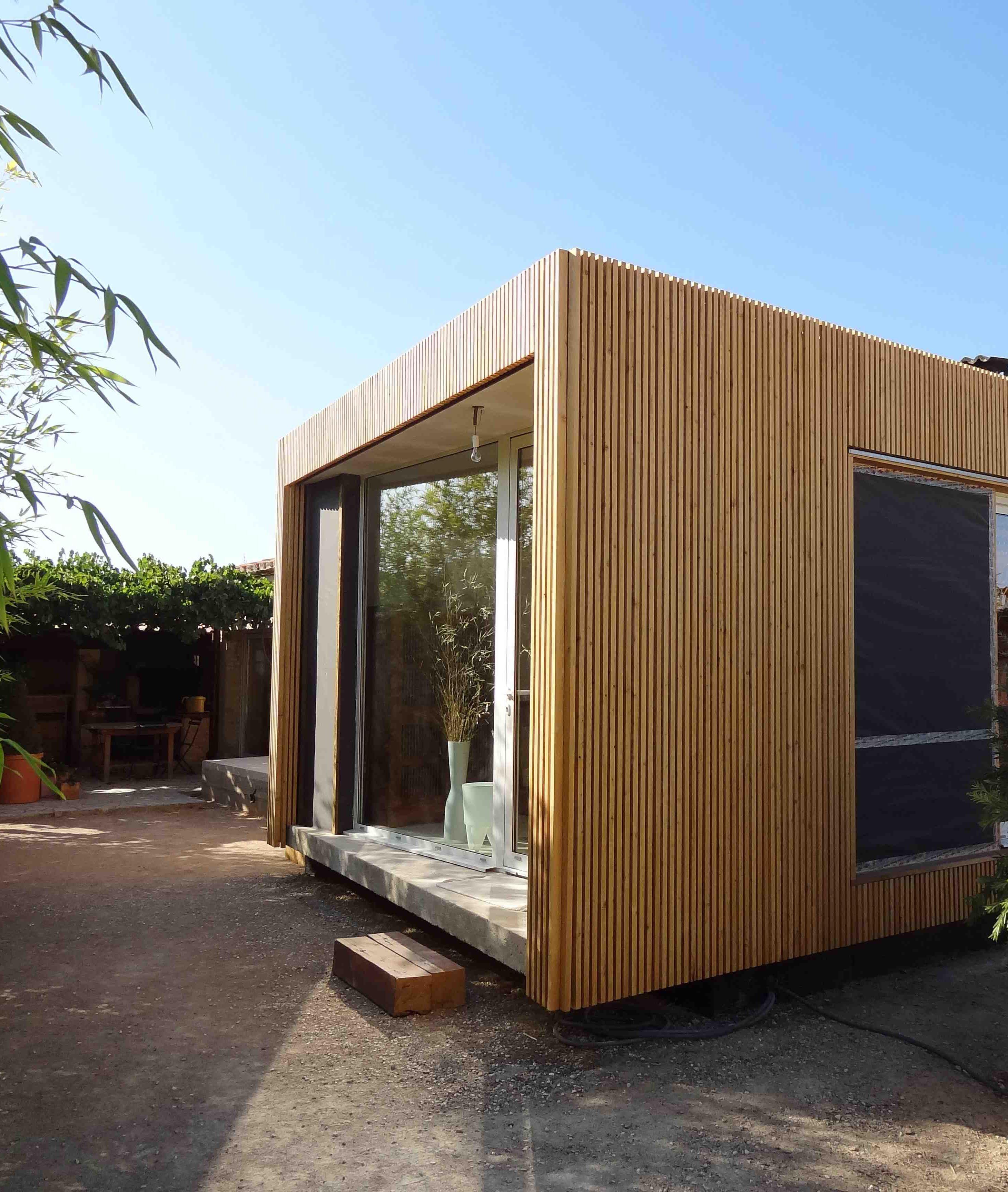 extension de maison en ossature bois bardage claire. Black Bedroom Furniture Sets. Home Design Ideas