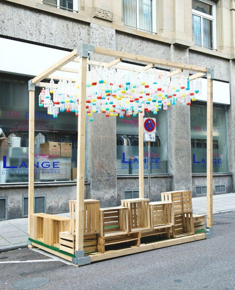 parklet in stuttgart | urbane möbel, ideen, baumregal