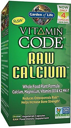 Garden of Life Raw Calcium Supplement - Vitamin Code Whole Food ...