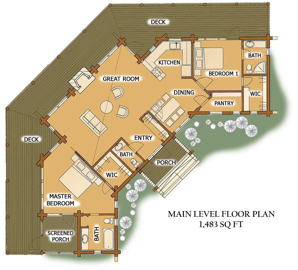 Large Log Cabin Floor Plans viajesairmar – Log Homes Floor Plans Colorado