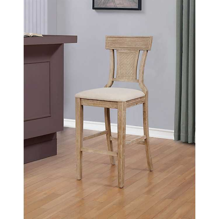 Surprising Product Details Ray Brown With Gray Wash Finish Bar Stool In Creativecarmelina Interior Chair Design Creativecarmelinacom