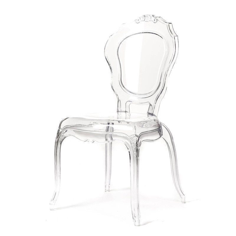 French Bella Ghost Transparent Chair Inspired By A Classic French Design This Modern Perspex Chair Truly Is A One Of A Kind Decor Item That Will Set Your Inte