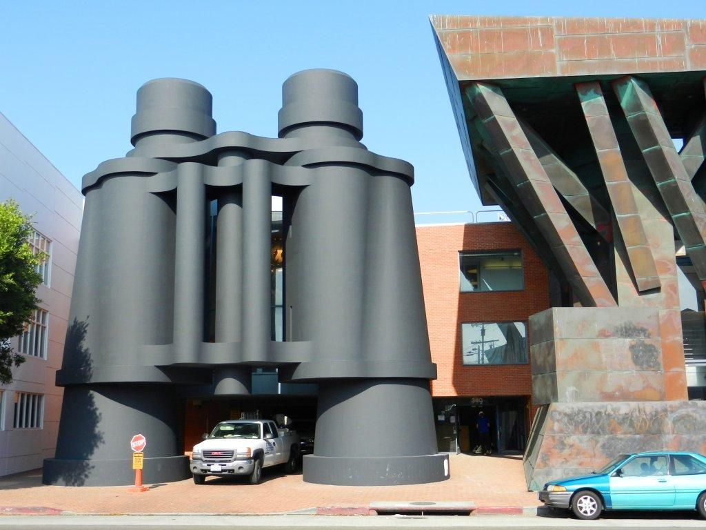 Take A Picture Next To These Giant Binoculars Aka Google Office On Main Str  In Santa