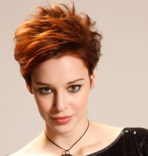 short hairstyles for thick coarse hair New heights short hairstyle for thick Pixie haircut