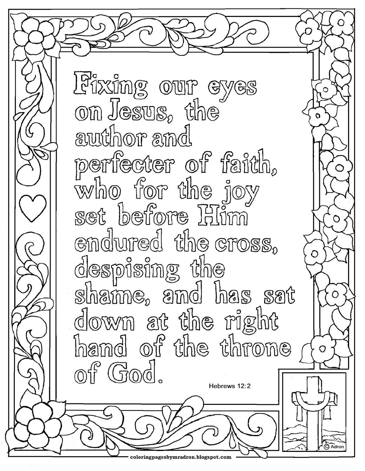 Free printable pictures to color, many are adult Bible