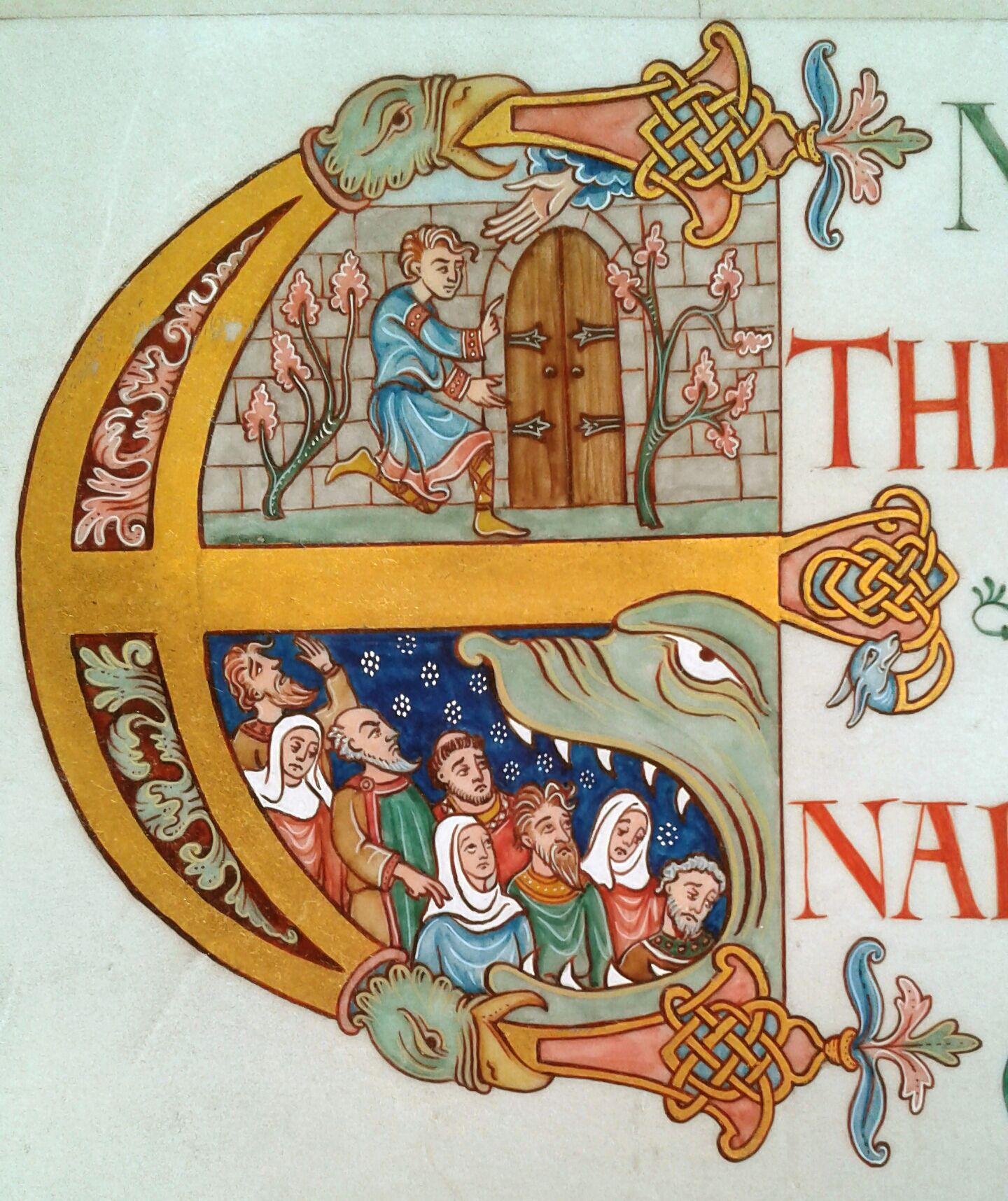 ANGLO-SAXON VERSAL. Medieval Illumination By Tania
