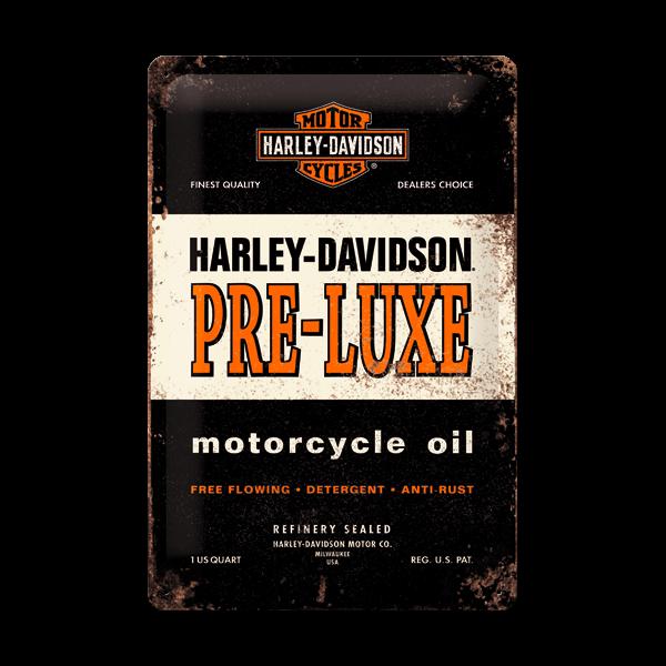 """Unendliche Weite, atemberaubende Natur, grenzenlose Freiheit - kaum eine Marke verkörpert den """"American Way of Life"""" besser als Harley-Davidson. Dieses Blechschild ist Ausdruck dieses Traums und für Deine Wand bestimmt: """"Live to Ride, Ride to Live!"""""""