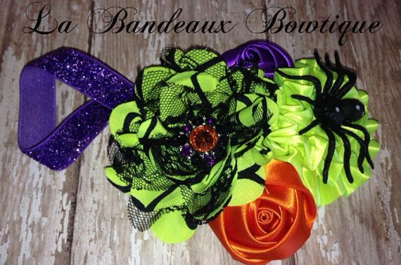 Sweet and Spooky Satin Halloween Couture by LaBandeauxBowtique, $12.00