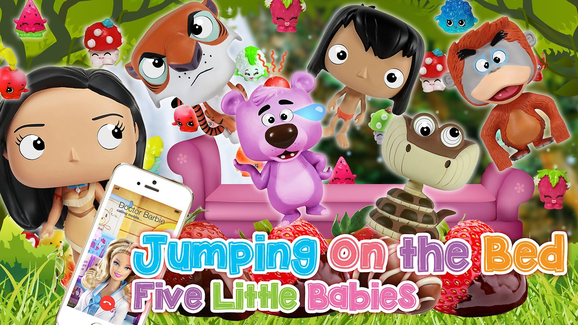 Disney The Jungle Book Five Little Monkeys JUMPING ON THE