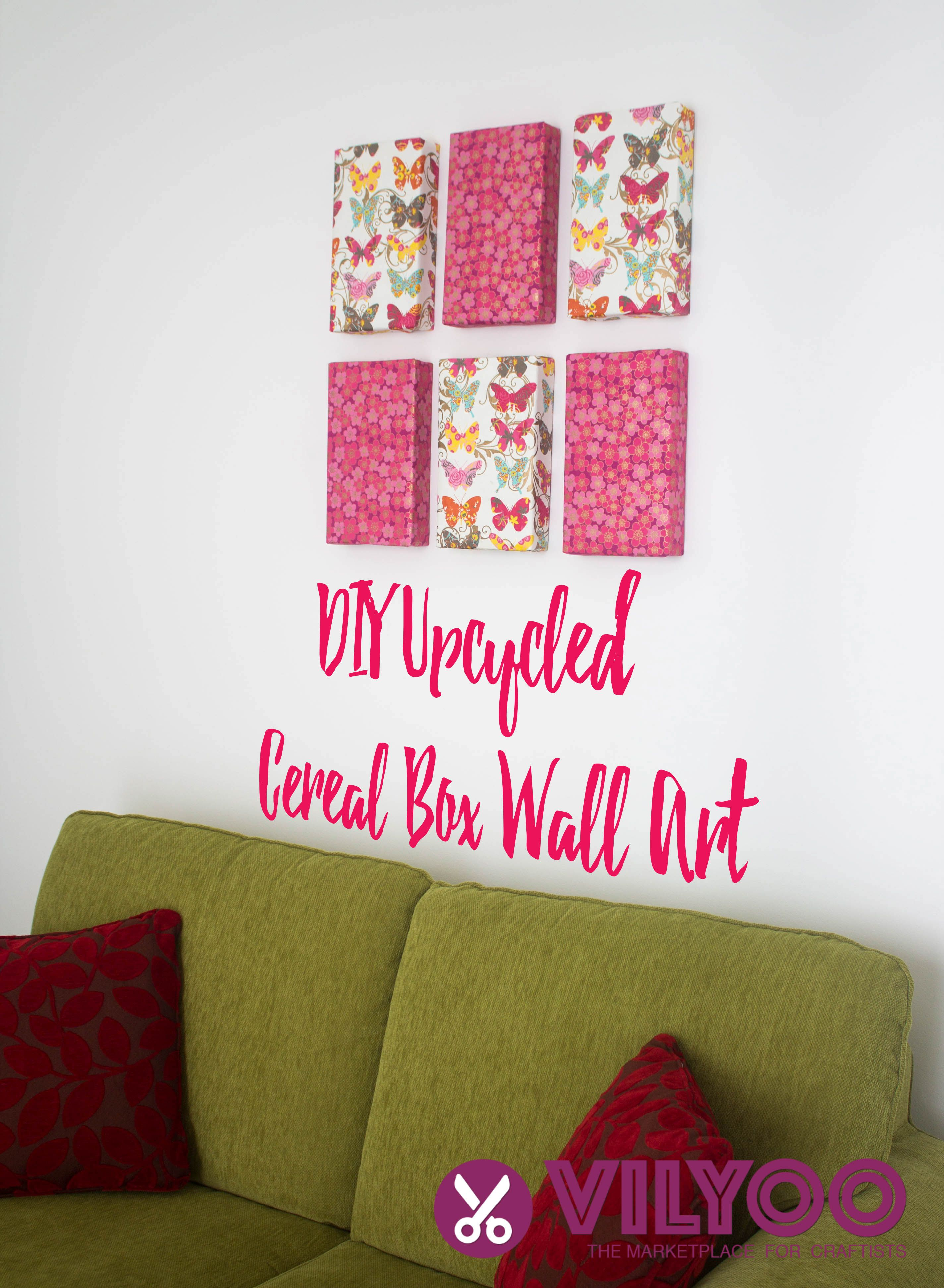 Upcycled Wall Art Diy Upcycled Cereal Box Wall Art Curators Of Contemporary Crafts