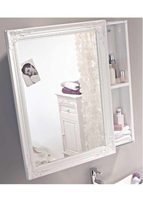 Spiegelschrank weiß weiß - Home Collection - bonprixde - schiebetür für badezimmer