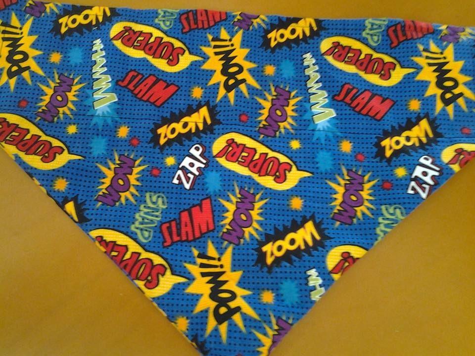 Zoom, Pow, Slam bandana. Large size, over the collar. £5 plus £1 postage