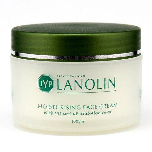 Jyp New Zealand Lanolin Moisturizing Face Cream With Vitamin E And Aloe Vera 100g Moisturizing Face Cream Face Cream Homemade Wrinkle Cream