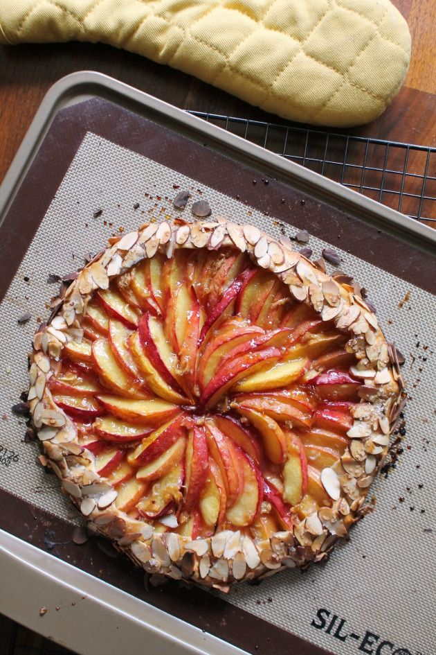 The Cooking Actress: Ginger-Nectarine Galette --an easy, free form pie that is the perfect summertime dessert!